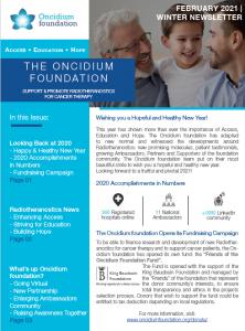Oncidium Winter Newsletter